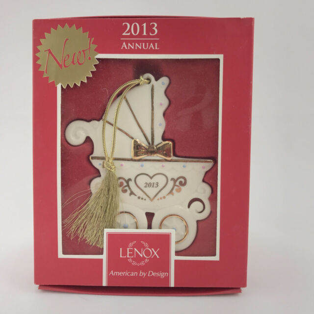 Lenox 2013 Babys 1st Christmas Annual Tree Ornament in Box Carriage