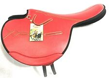 International Quality Synthetic Race Exercise Saddle Red