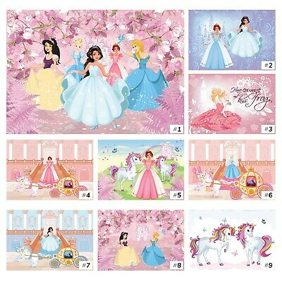 Vlies Tapete Fototapete Kinderzimmer Prinzessin Schloss rosa