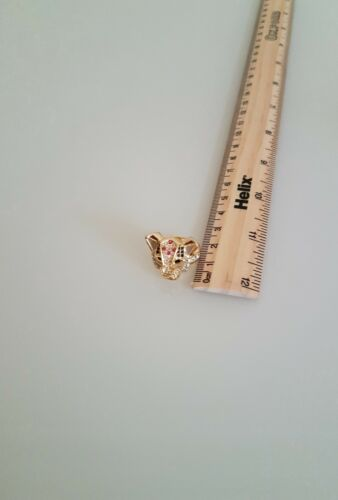 JM by Julien Macdonald Safari collection Leopard Ring with Swarovski Crystals