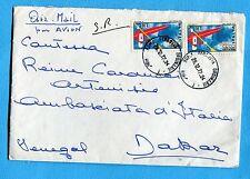 1972 CAMP.MOND.CANOA MERANO £.90 x 2 su B VIA AEREA per DAKAR (SENEGAL) (301484)