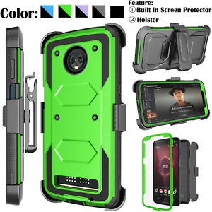 online store 6b690 8eb8e Details about For Motorola Moto Z3 Play/Z3 Verizon Full Bumper Case With  Screen Protector+Clip