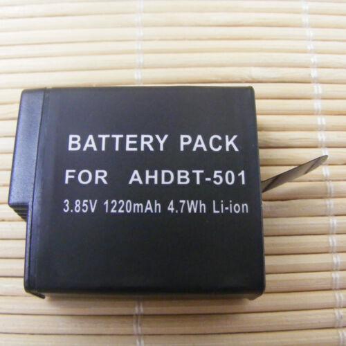 4 Pack para GoPro Hero 7 Black Hero 5 6 Negro AHDBT 501 aabat 001 Batería