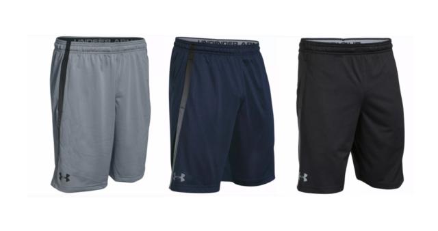 NWT Under Armour Mens UA Tech Mesh Fitness Training Sports Shorts Gray Blue Blk