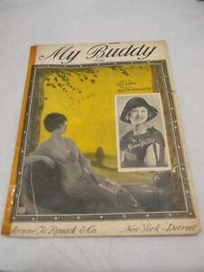 My Buddy Vtg Sheet Music Piano C 1922 Ebay
