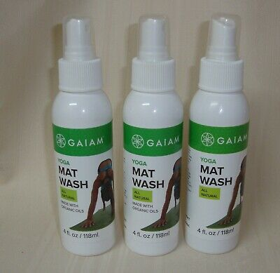 Gaiam Yoga Mat Wash Exercise Cleaner Pilates Remove Sweat Lot Of 3 Bottles New Ebay