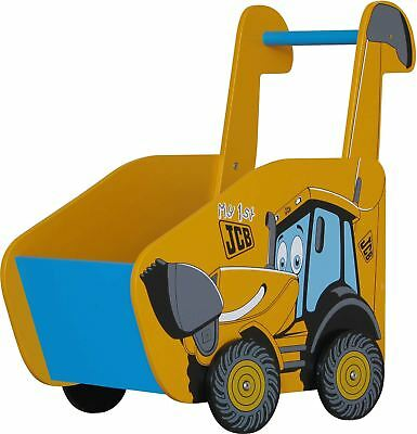 Kidsaw Jcb Push Along Joey Digger Wooden Walker Walking Aid Toddler/kid Bn Skillful Manufacture