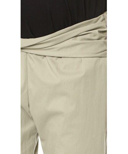 Hatch Maternity THE IPEK PANT Twist Gathered Waist Poplin Crop Trouser Pant NEW