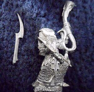 Warhammer Fantasy Metal DARK ELF EXECUTIONERS COMMAND MUSICIAN C 553