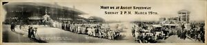 """1916 Ascot Speedway, Los Angeles, CA Vintage Panoramic Photograph 32"""" Long"""