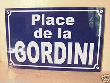Replique PLAQUE de RUE Place de la GORDINI RENAULT R8 R9 R12 clio twingo megane