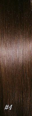 "24""CLIP IN REMY REAL HUMAN HAIR EXTENSIONS BLACK DARK BROWN BROWN BLONDE REDPINK"