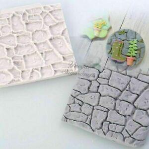 Wall Silicone Stone Tile Mold Decor Background Brick Molds Concrete Form Garden