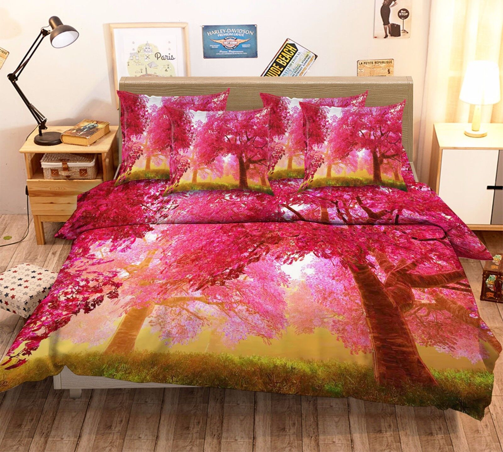 3D Purple Tree 5 Bed Pillowcases Quilt Duvet Cover Set Single Queen King AU Kyra