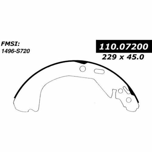 720 FITS VEHICLES ON CHART BRAND NEW BENDIX GLOBAL REAR BRAKE SHOES RS720