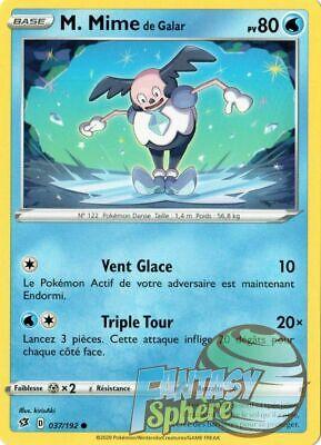 Mime de Galar Reverse Epee et Bouclier 2 EB02 VF Francais Pokemon 37//192  M