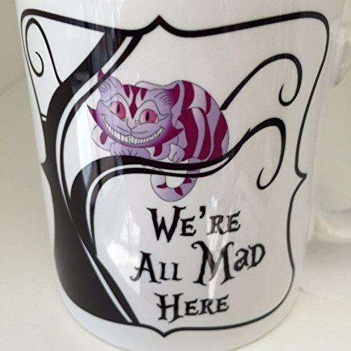 nous sommes tous fous ici du chat de nouveauté tasse en céramique 10 on Alice au pays des merveilles