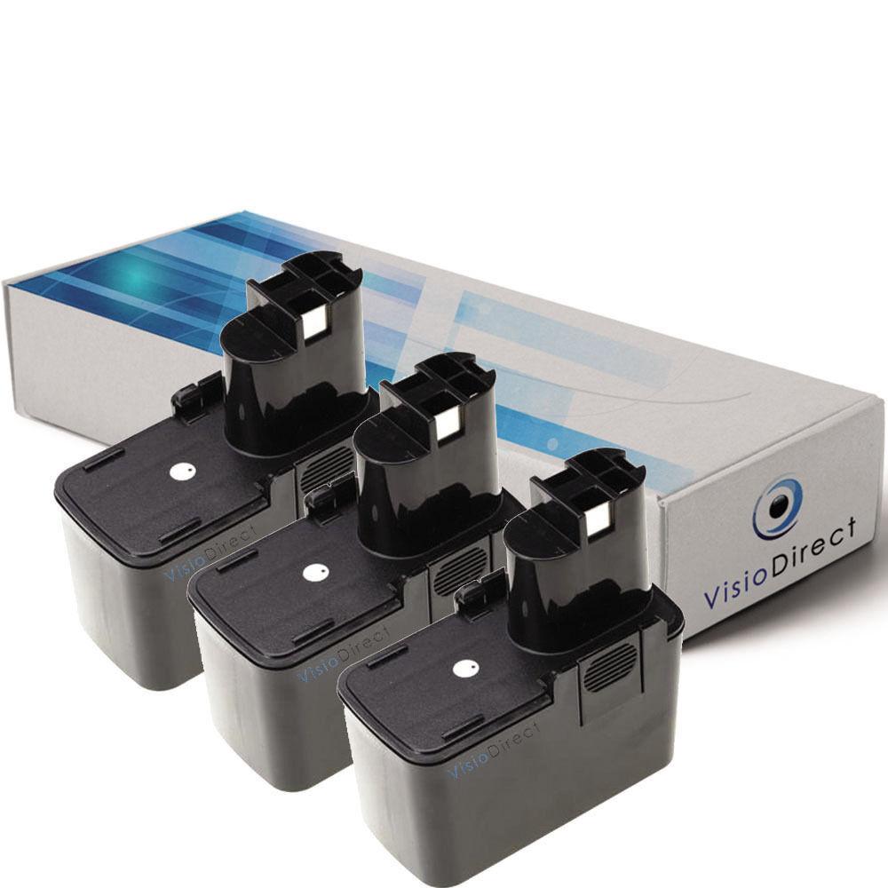Lot de 3 batteries 7.2V 3000mAh pour BOSCH GBM 7.2 VES-2 - Société Française -