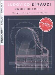 à Condition De Ludovico Einaudi Classés Pièces Pour Piano Préparatoire Grades 1 2 Music Book/audio-afficher Le Titre D'origine
