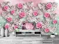 3D Flower Diamond 1137 Paper Wall Print Decal Wall Wall Murals AJ WALLPAPER GB