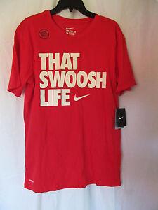 da1187c4 NWT Men's Nike DRI-FIT COTTON THAT SWOOSH LIFE T-SHIRT, Red & White ...