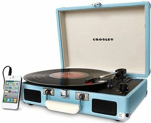crosley cr8005d tu cruiser 3 speed portable turntable record player turquoise 689742566076 ebay. Black Bedroom Furniture Sets. Home Design Ideas