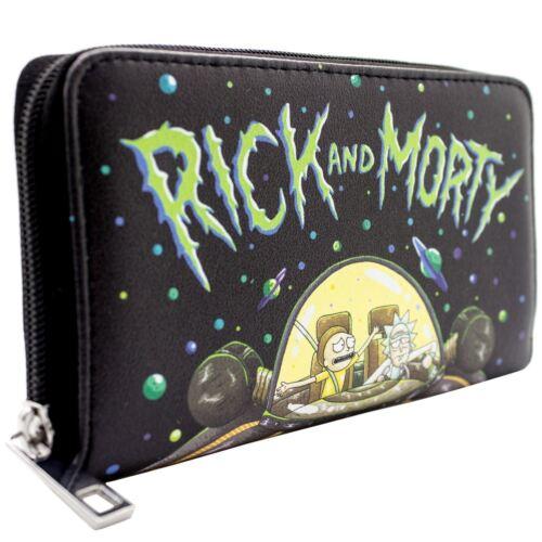 Rick /& Morty Betrunkener Raumkreuzer Schwarz Portemonnaie Geldbörse