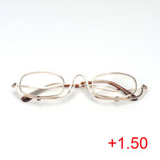 2a06d059449d Magnifying Makeup Reading Glasses Folding Flip Down Cosmetic Spectacles  +1.5-4.0