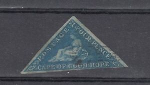 Cape-Of-Good-Hope-1863-4d-Blue-Triangle-SG19-Fine-Used-J2721