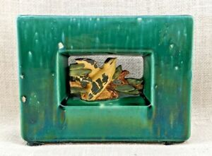 Vintage McCoy Pottery Arcature Vase - Yellow Bird in Green Frame - 1950s