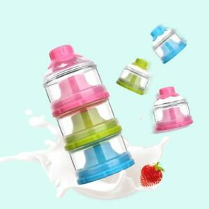 1d31b2050582 Details about Baby Milk Powder Formula Dispenser Snack Container Storage 3  Layers Portable LE