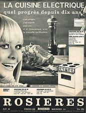 PUBLICITE  1966   ROSIERES  cuisiniere éléctrique