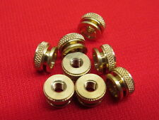 NEW 1930's style spark plugs knurl nuts brass fits original plugs set of 8  A11B