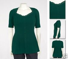 NEW Zaftique SS SWEETHEART COMFY TOP Emerald GREEN 2Z 6Z / 20 36 / 2X 6X