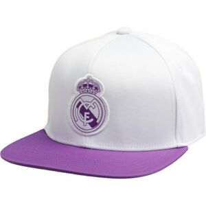 8b084ed099 adidas RMCF Real Madrid Flat Cap Crystal White Ray Purple New