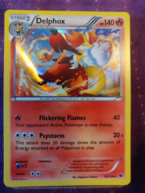 Delphox 13//124 Fates Collide Reverse Holo Mint Pokemon Card