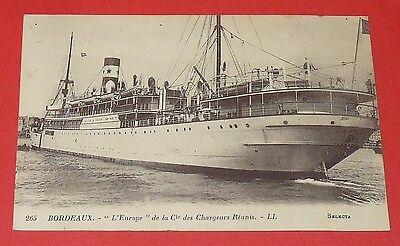 Cpa 1920-1925 Bordeaux Paquebot L'europe Compagnie Des Chargeurs Reunis Modelado Duradero