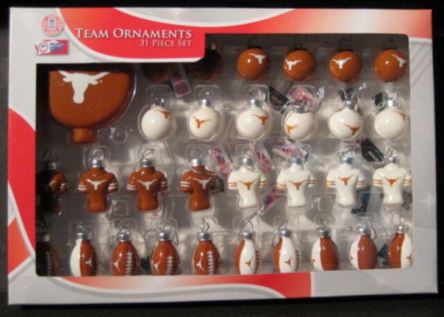 Texas Longhorns Football Christmas Team Ornaments Blown ...