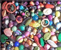 Grab Bag Lot 3 - Assorted Mix Of Beads, Findings, Gemstones ..etc.. 2 Lb.