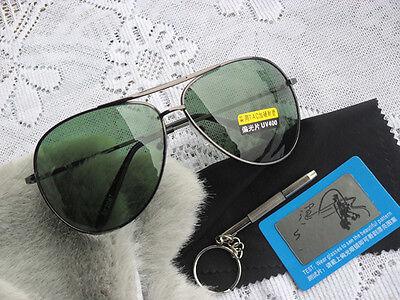 Retro Green Lens Men Women outdoor Metal Frame UV400 Sunglasses Glasses