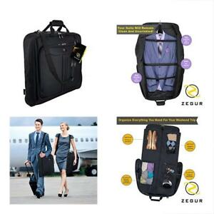 Suit Carry On Garment Bag For Travel   Business Trips With Shoulder ... e580ab4c7860b