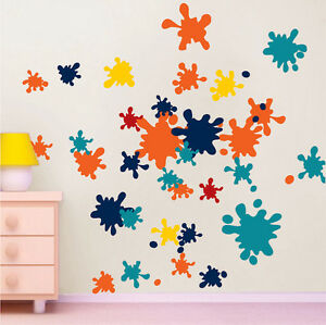 ink splash wall decals murals colorful wall vinyl decal color