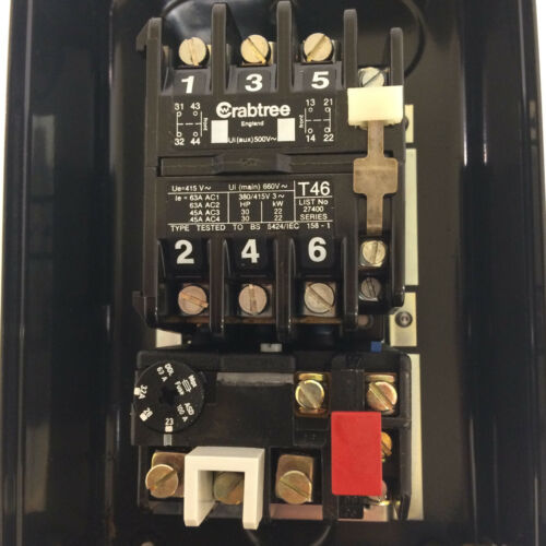 Motor de arranque recinto d.o.l 27001-AA0 Gama Crabtree 110VAC T46 23-32 A 27001AA0