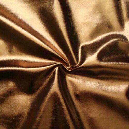 Stretchstoff Folienjersey glänzend Bronze 150cm breit Meterware Kostümstoff