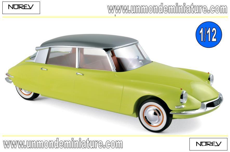 Citroën DS 19 1958 giallo Jonquille & grigio Triennale métallisé  NOREV 121561 1 12
