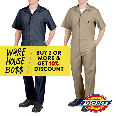 DICKIES 48799 MENS LONG SLEEVE COVERALL FORMAL MECHANIC WORK UNIFORM JUMPSUIT