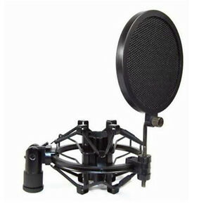 dz847 record studio microphone mic wind screen pop filter mask shield dual ebay. Black Bedroom Furniture Sets. Home Design Ideas