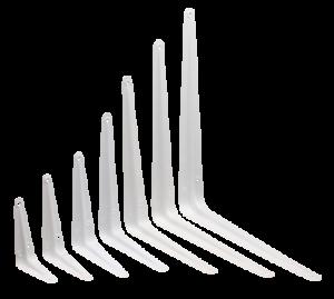 "White London Shelf Bracket Metal Type 75mm/3"" to 350mm/4"" WHITE Shelving"
