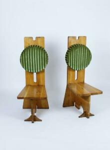 Pair-of-Studio-Crafted-Oak-High-Back-Chairs-Hungary-1970s