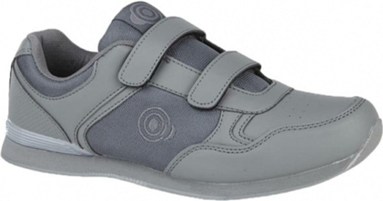 DEK DRIVE Mens Flexible EVA Touch Fasten Casual Dress Sports Trainers Grey